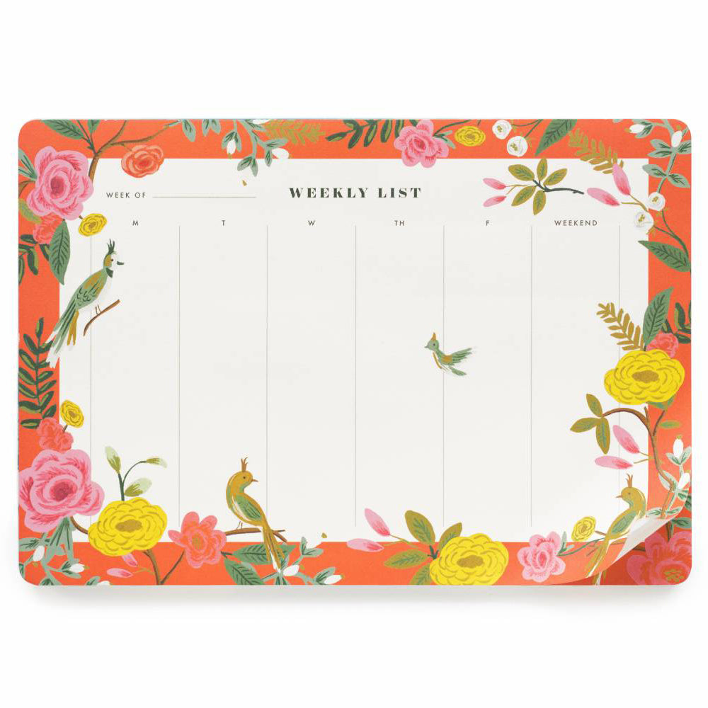 Rifle Paper Co. Shanghai Garden Weekly Desk Pad