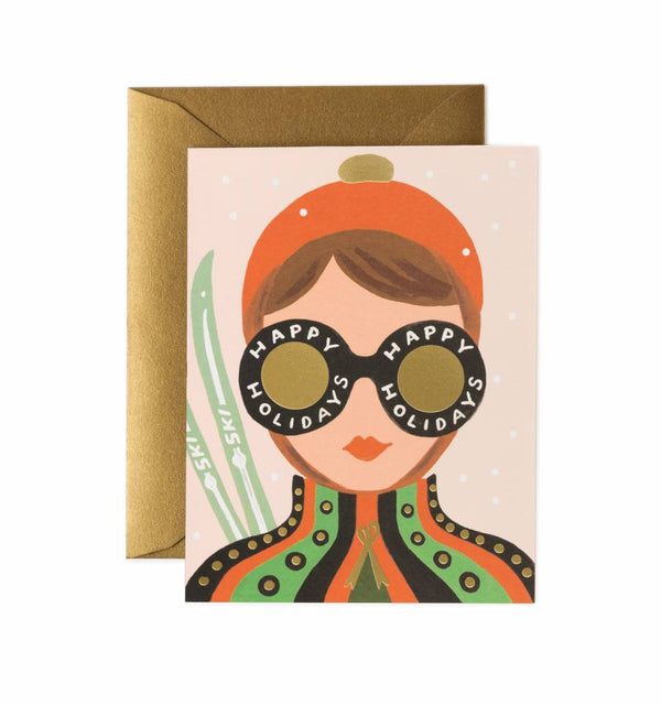 Rifle Paper Co. Ski Girl Christmas Card