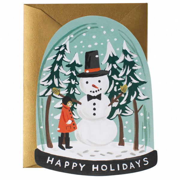 Rifle Paper Co. Snow Globe Card - Flat Note Christmas Card