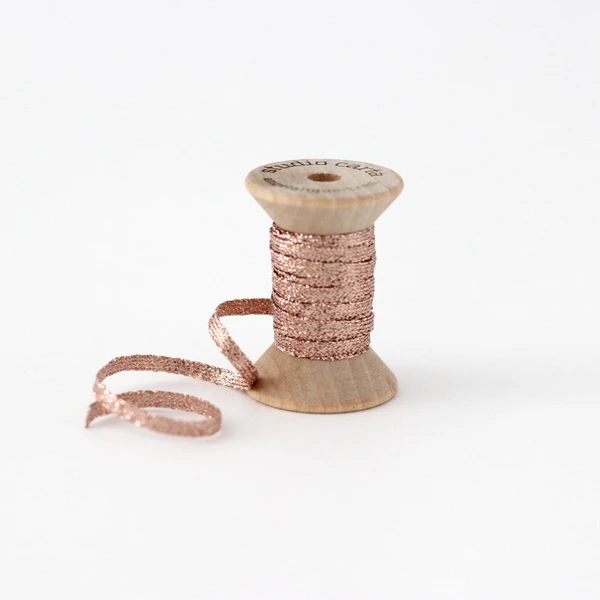 Studio Carta Metallic Braided Ribbon - Rose Gold