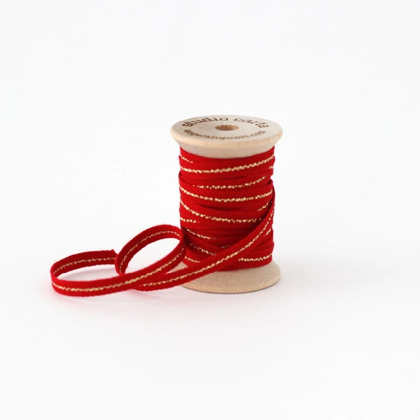Studio Carta Metallic Line Ribbon - Red/Gold Line