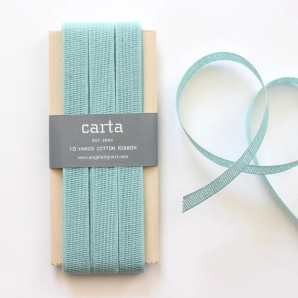 Studio Carta Loose Weave Cotton Ribbon | Wooden Paddle POOL