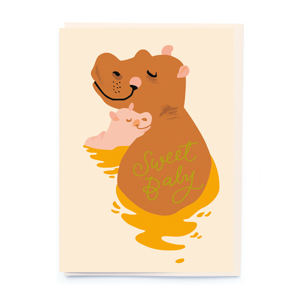 Noi Publishing Sweet Baby Hippo Baby Card