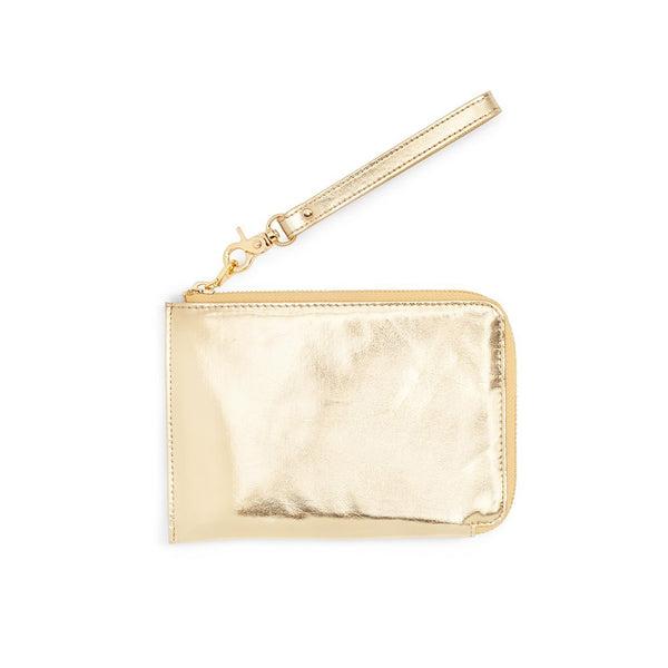 Ban.do Getaway Travel Clutch - Metallic Gold