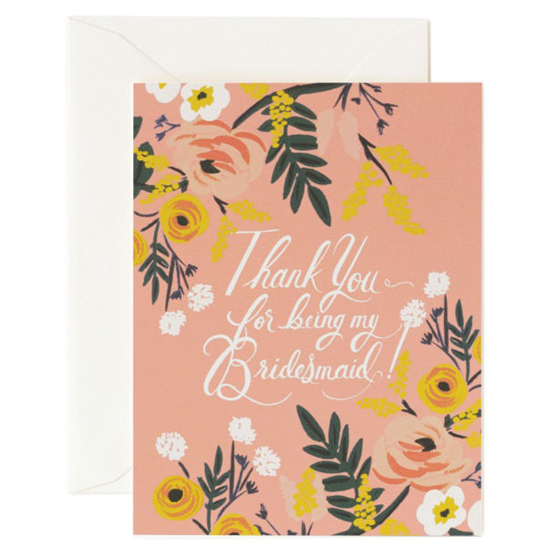 Rifle Paper Co. Thank You Bridesmaid Card