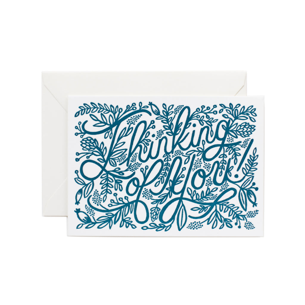 Rifle Paper Co. Letterpress Thinking of You Card