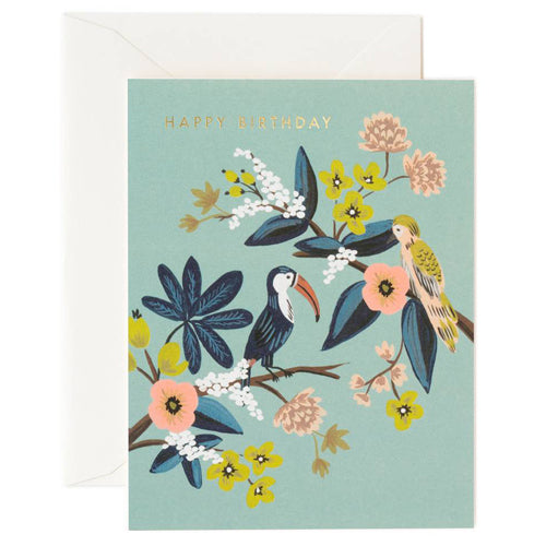 Rifle Paper Co. Toucan Birthday Card