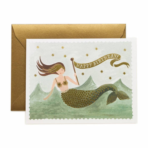 Rifle Paper Co. Vintage Mermaid Birthday Card