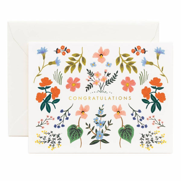 Rifle Paper Co. Wildwood Congrats Card