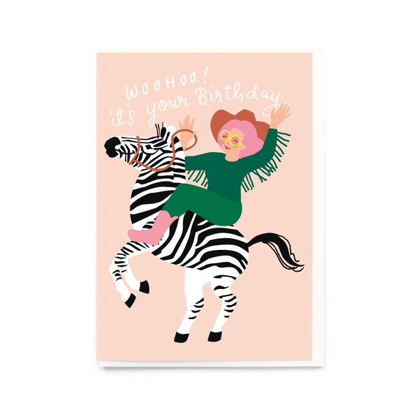 Noi Publishing Zebra Girl Birthday Card