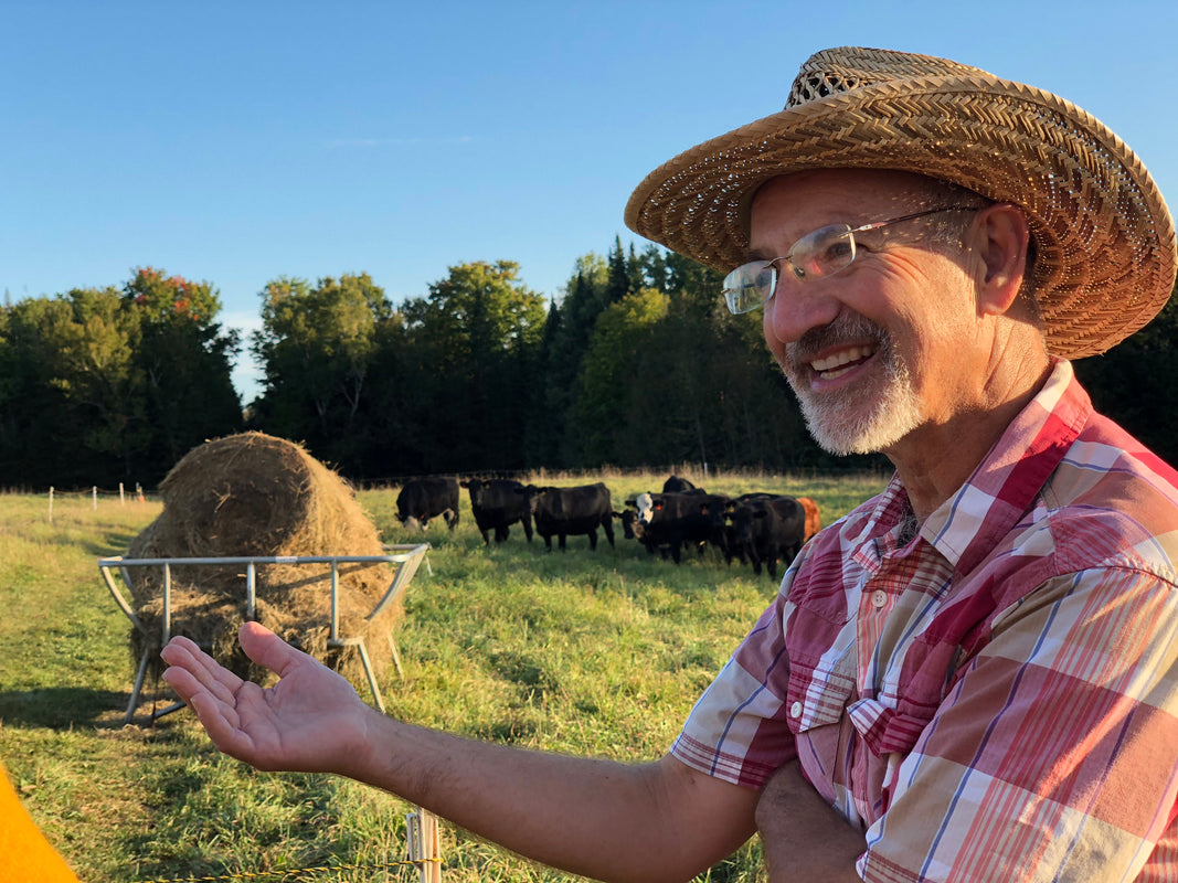 farmer dan maine raises grass fed beef
