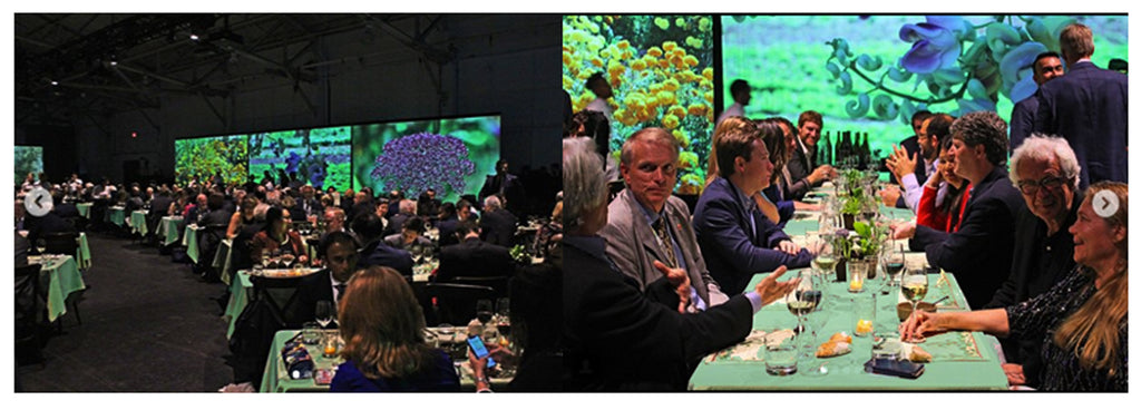 Botanical Farm-To-Tablecloths for Alice Water's Global Climate Action Summit Dinner