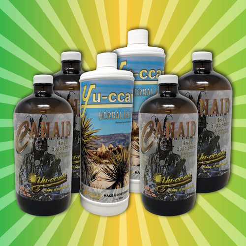 REMEDY PACK  Contains 4 x Canaid 909 ml ( 32oz ) and 2 x Yu-ccan Herbal Supplement 1000ml ( 34oz)