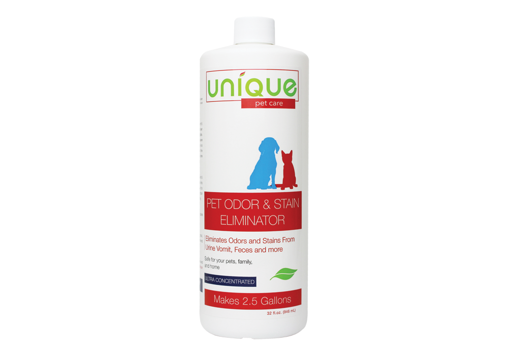 Pet odor and Stain Eliminator concentrate, dilute for easy use.
