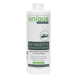 RV Digest-It 32 oz. breaks down waste and eliminates odors. lubricate valves and seals.