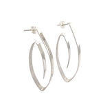 STERLING SILVER WIRE OVAL POST EARRINGS