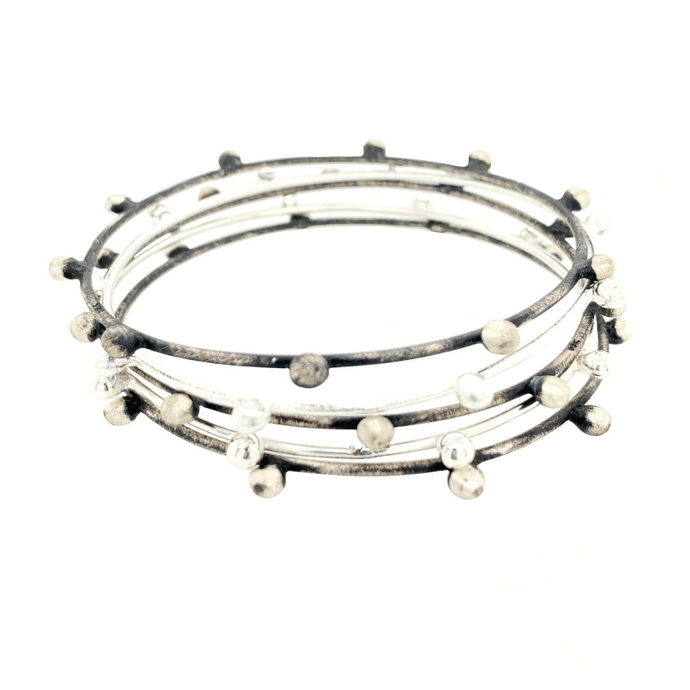 STERLING SILVER MORNING DEW BANGLE