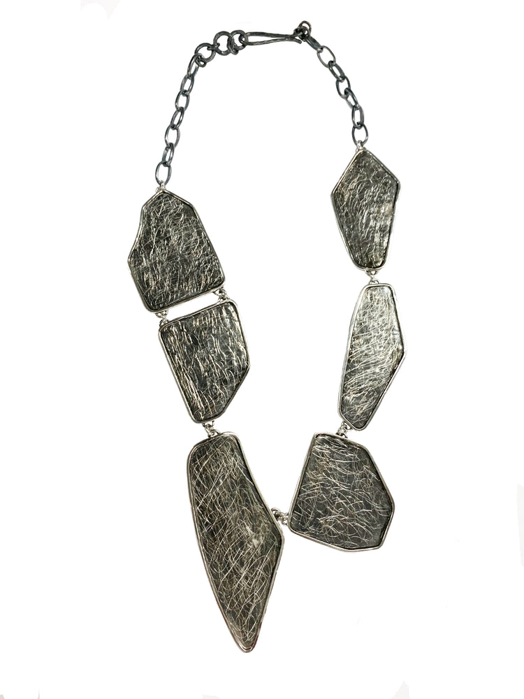 STERLING SILVER GEOMETRIC SHAPES NECKLACE