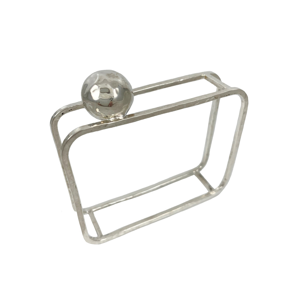 STERLING SILVER SPHERE SQUARE BANGLE