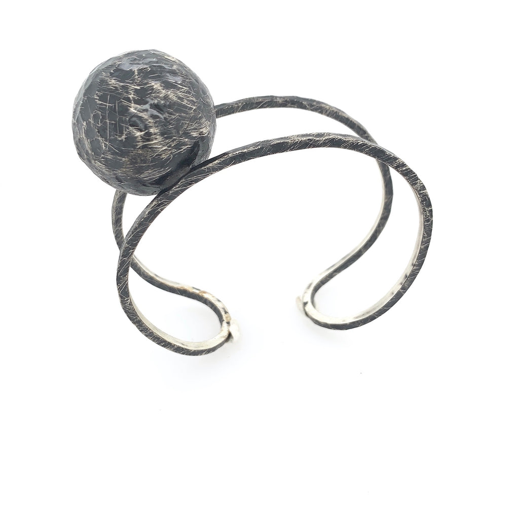 STERLING SILVER SPHERE CUFF