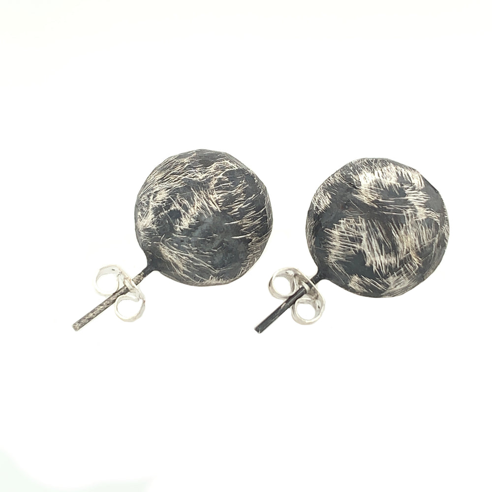 STERLING SILVER SPHERE POST EARRINGS