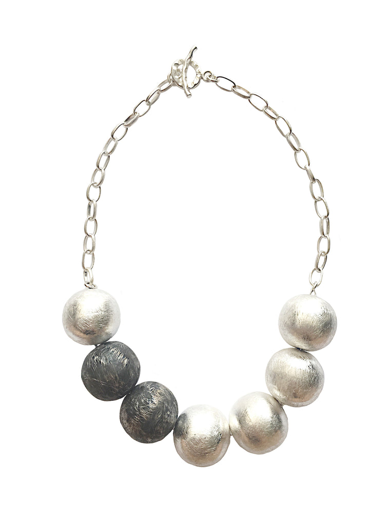 STERLING SILVER SPHERICAL NECKLACE