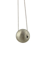 STERLING SILVER SPHERE   PENDANT WITH  CHAIN