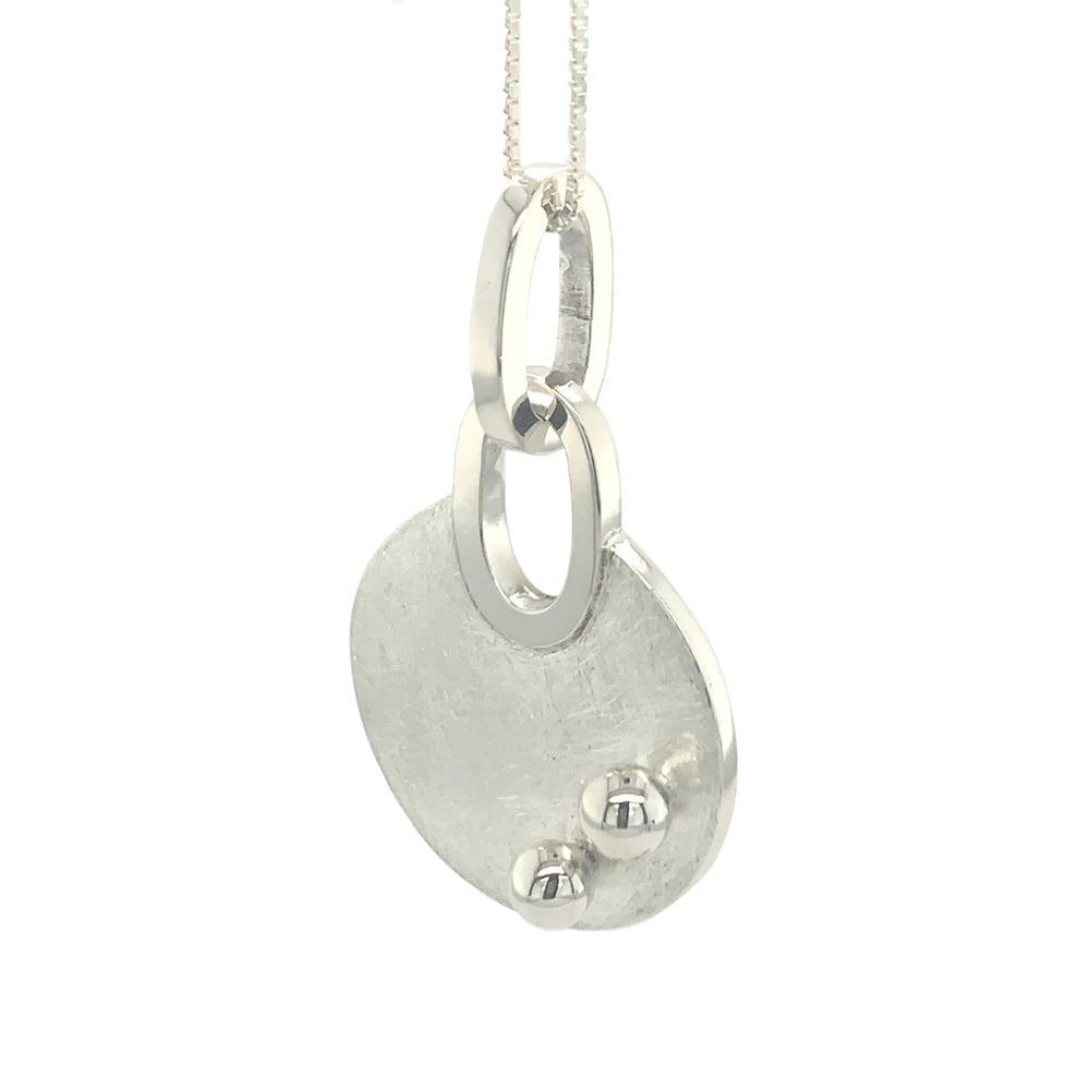 STERLING SILVER DOTS LINK CHAIN PENDANT- CHAIN NOT INCLUDED