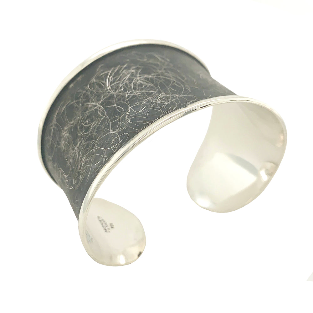 STERLING SILVER CUFF WITH LIP