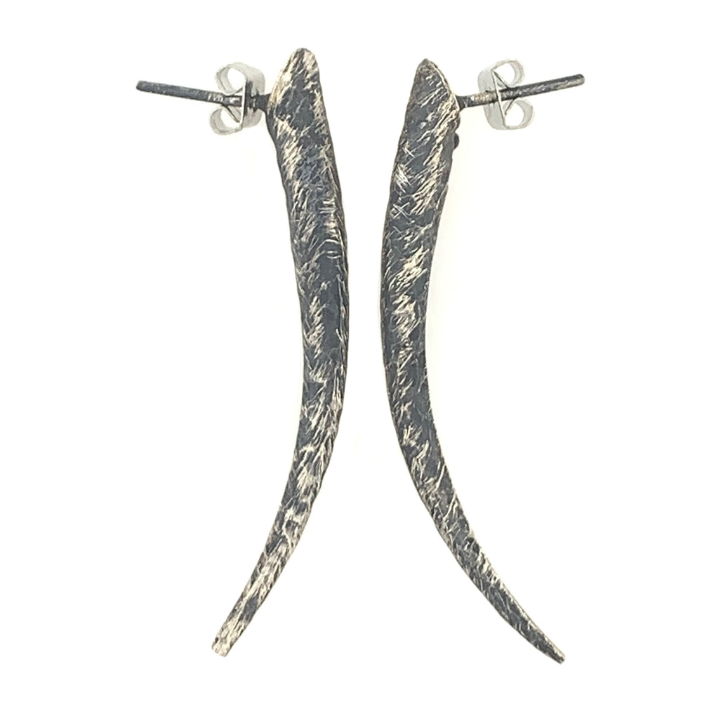 STERLING SILVER DAGGER POST EARRINGS