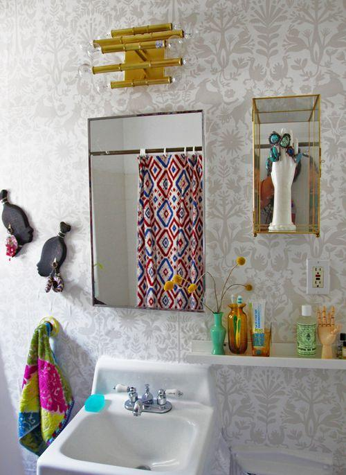 Justina Blakeney's Otomi Bathroom