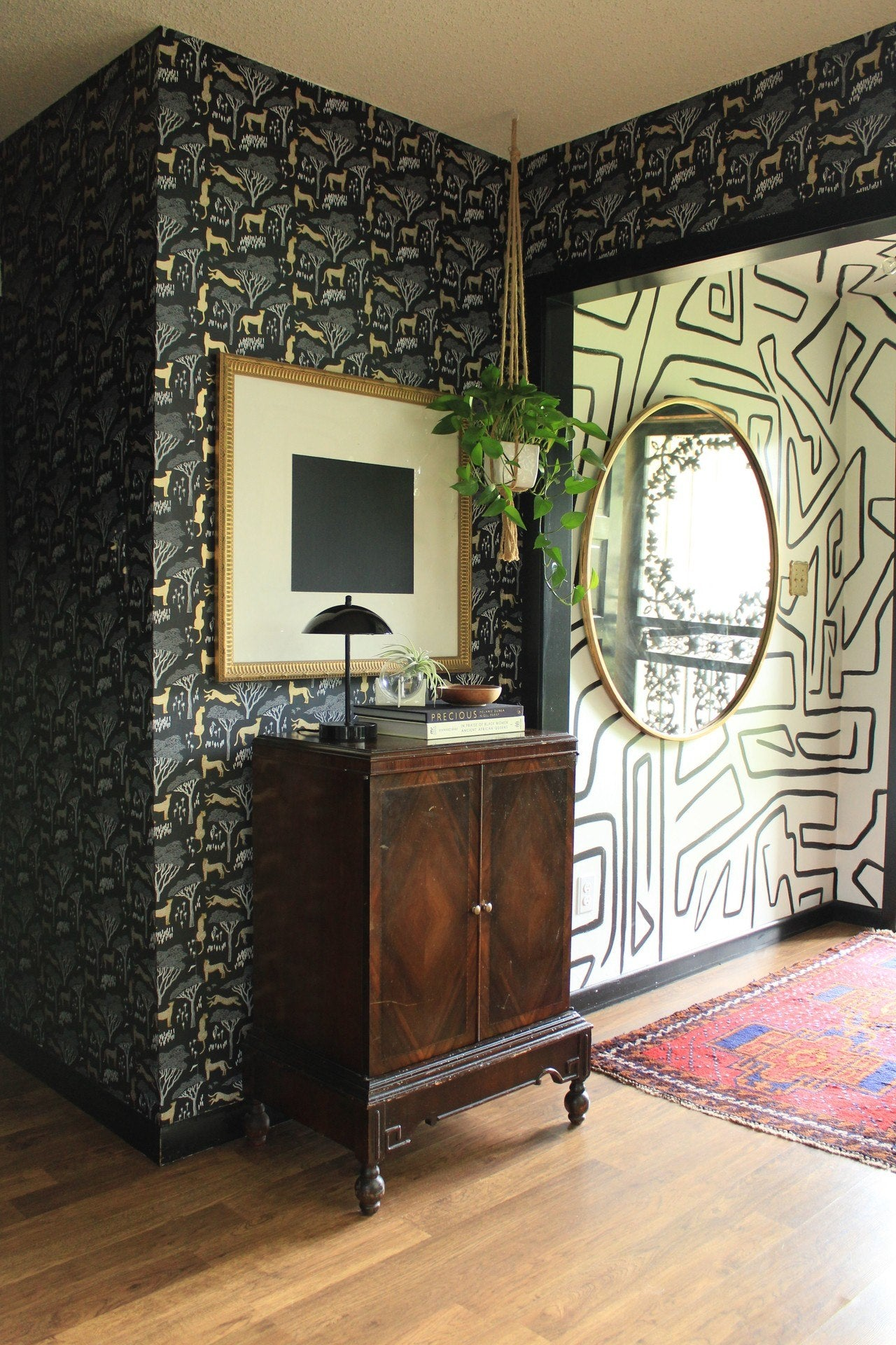Carmeon Hamilton | Nubi Interiors | Serengeti Ebony wallpaper | Julia Rothman | Hygge & West