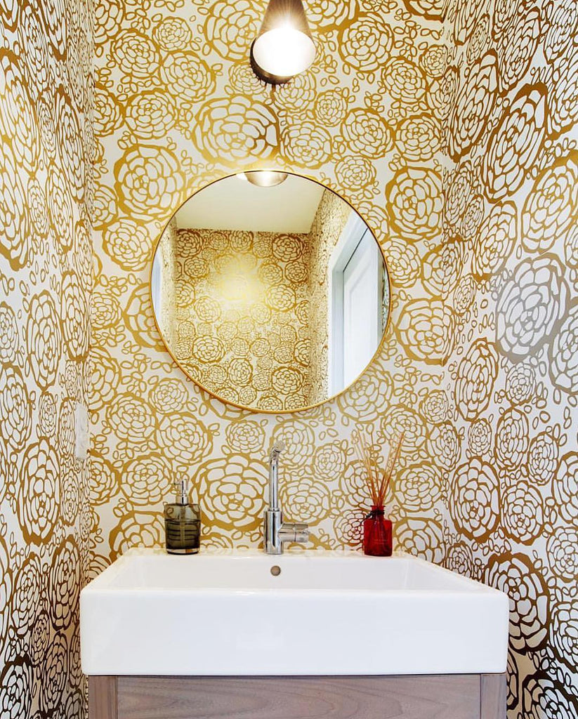 Petal Pusher Gold wallpaper | Oh Joy! | Hygge & West