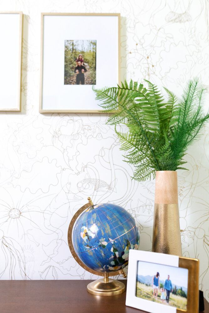 Pattern Players: Susannah Watts | Swatts & Co. | Underwater World Gold wallpaper | Pattern People | Hygge & West