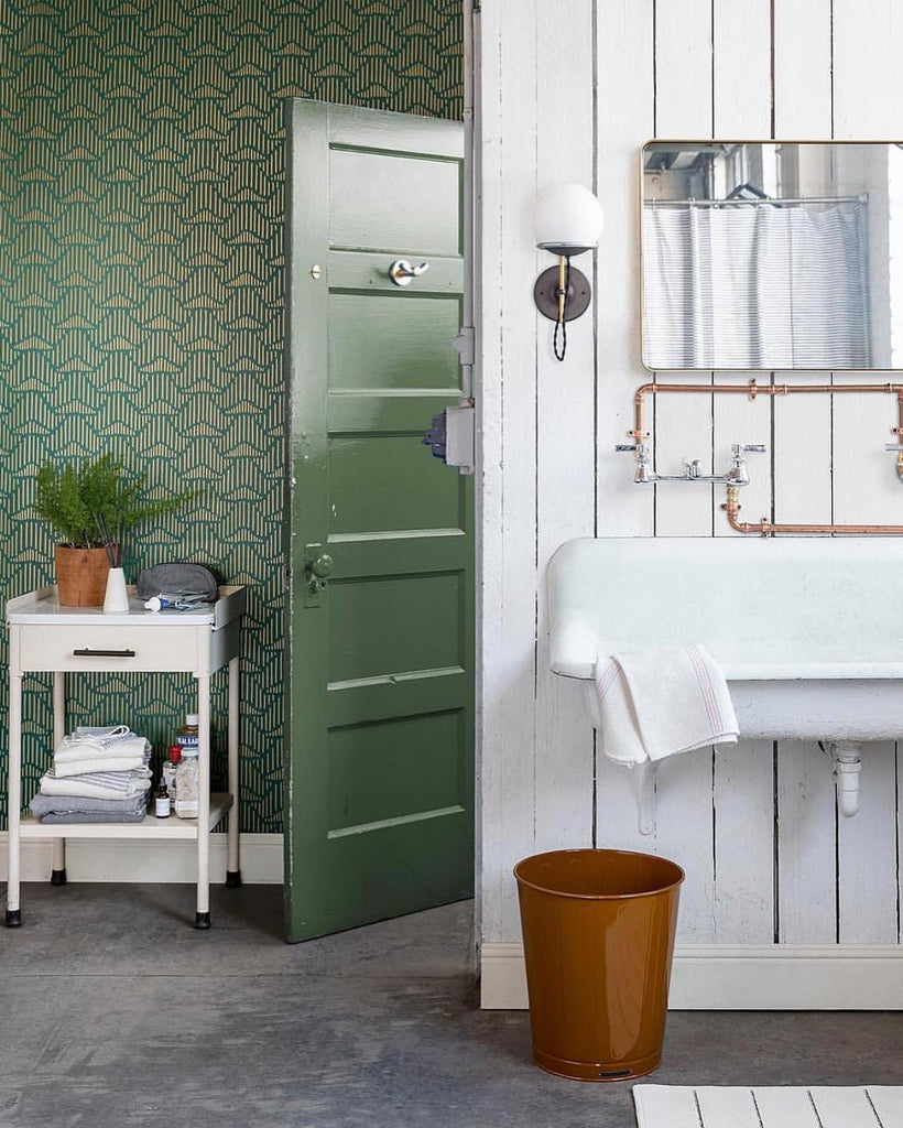 Palma Deep Green wallpaper | Lawson-Fenning | Hygge & West