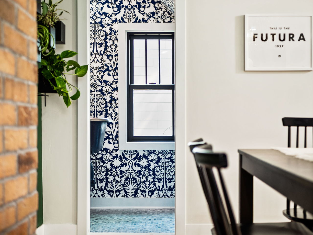 Otomi Navy Wallpaper | HGTV | Hygge & West