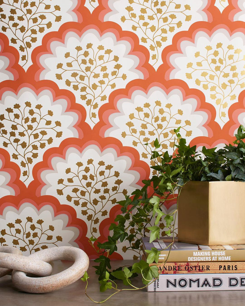 Angelina Coral wallpaper | Tilton Fenwick | Hygge & West
