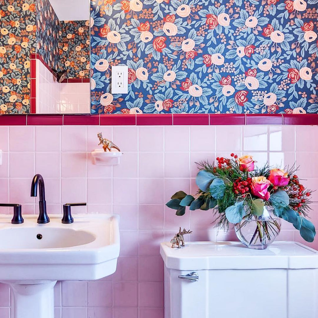 Rosa Indigo wallpaper | Rifle Paper Co. | Hygge & West