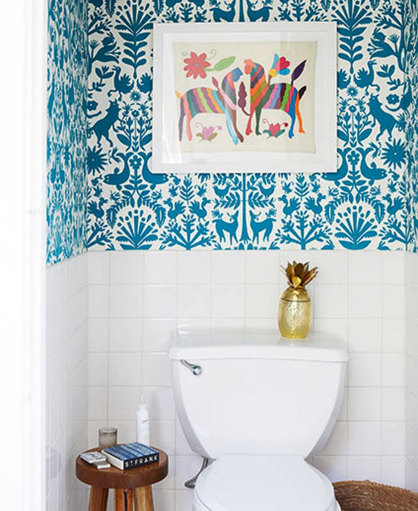 Otomi Turquoise wallpaper | Emily Isabella | Hygge & West
