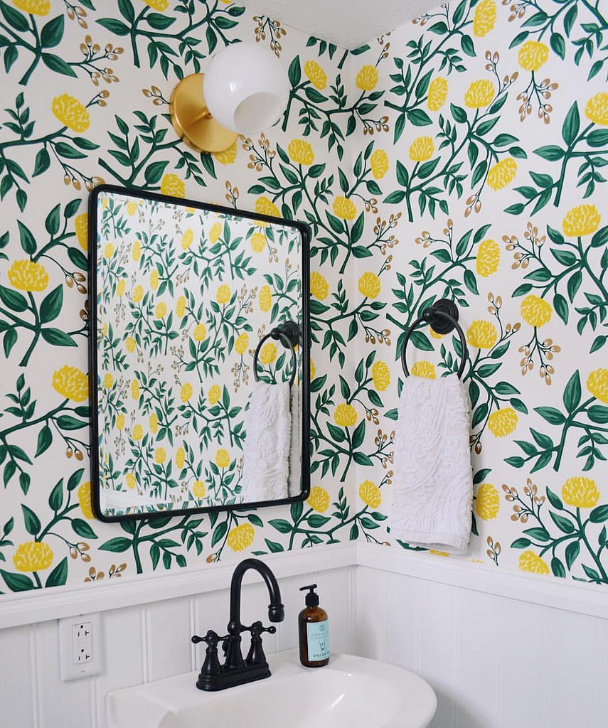 Peonies Yellow wallpaper | Rifle Paper Co. | Hygge & West