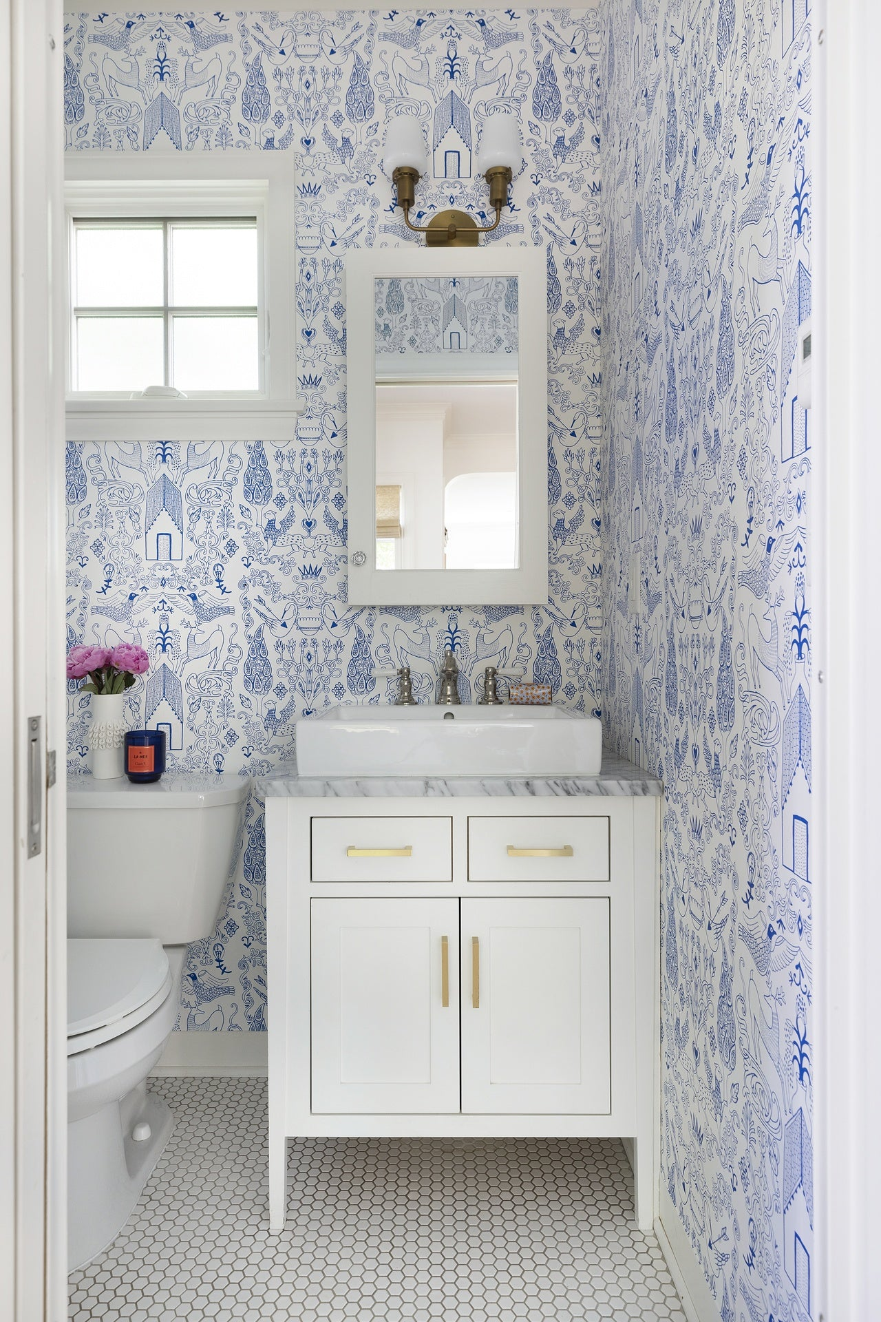 Netherote Blue wallpaper | Julia Rothman | Hygge & West