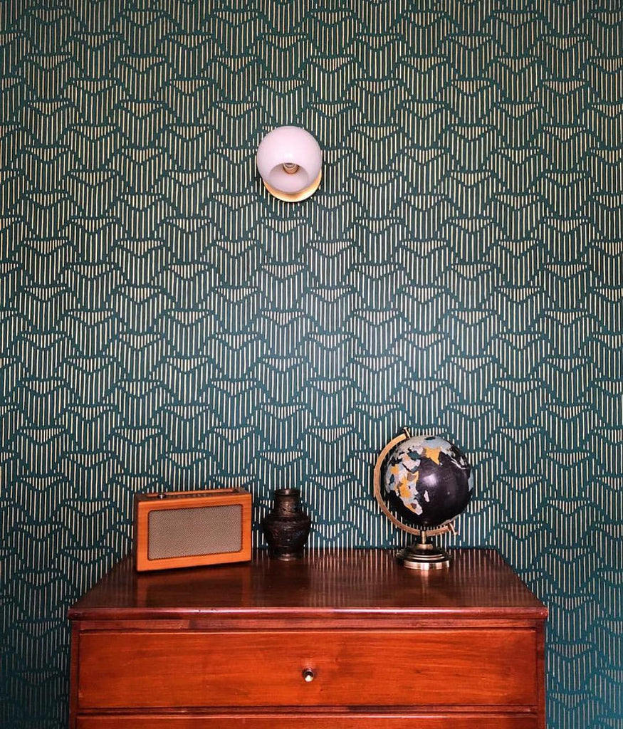 Palma Deep Green wallpaper | Lawson Fenning | Hygge & West