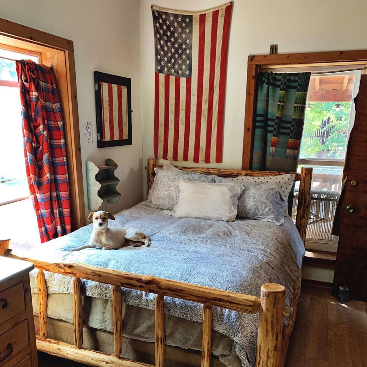Pattern Players: Mary Heffernan of Five Marys Farm | Andanza Navy bedding | Laundry Studio | Hygge & West