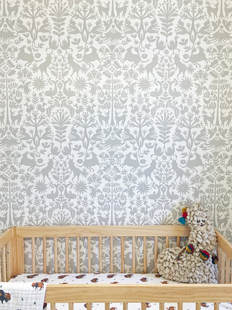 Pattern Players: Melissa Andersen | Otomi Taupe wallpaper | Emily Isabella | Hygge & West