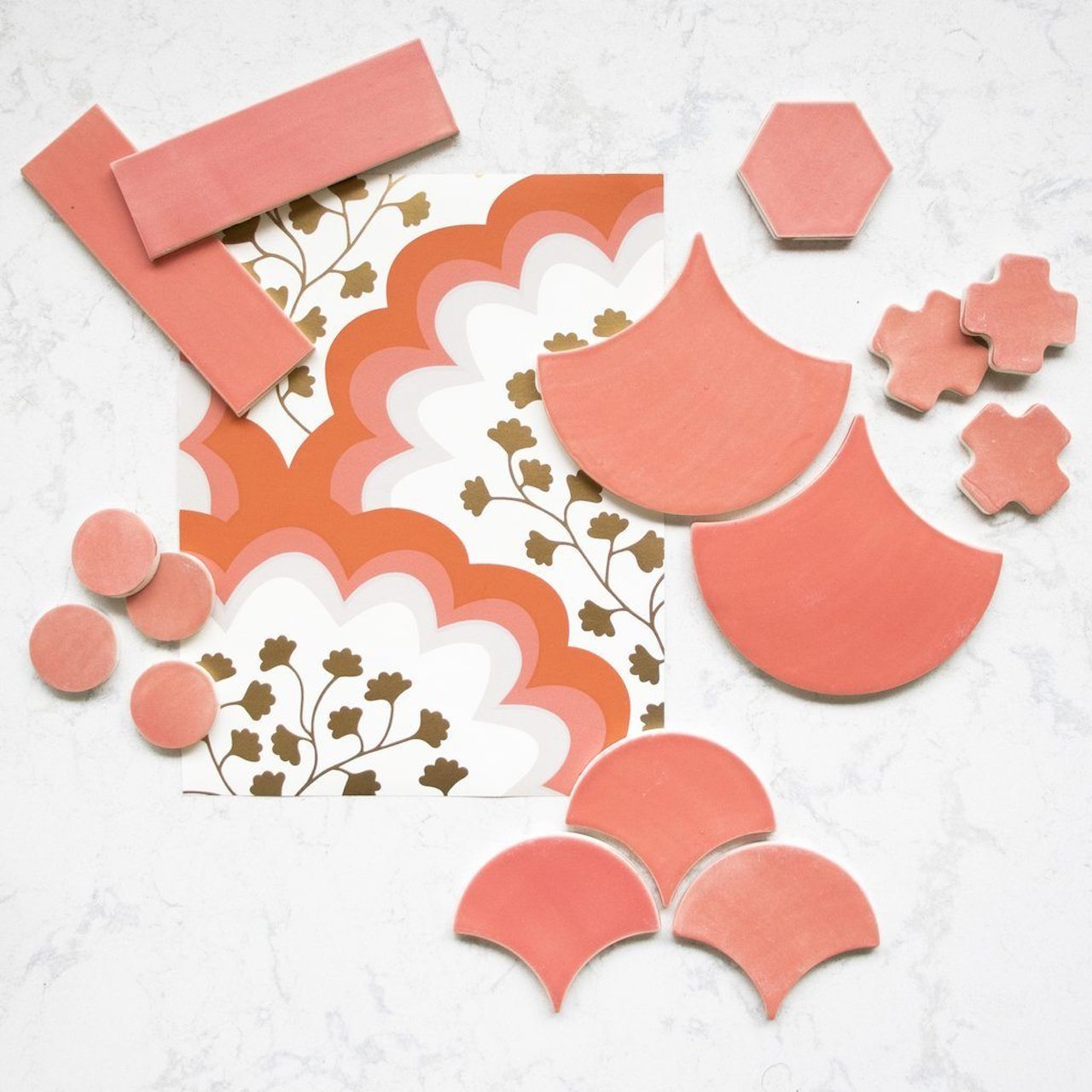 Wallpaper + Tile Moodboards | Angelina Coral