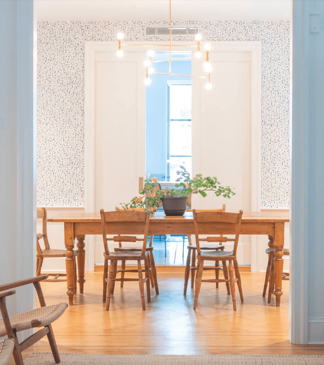 Snow (Blue) Wallpaper | Dining Room Decor | Hygge & West Press