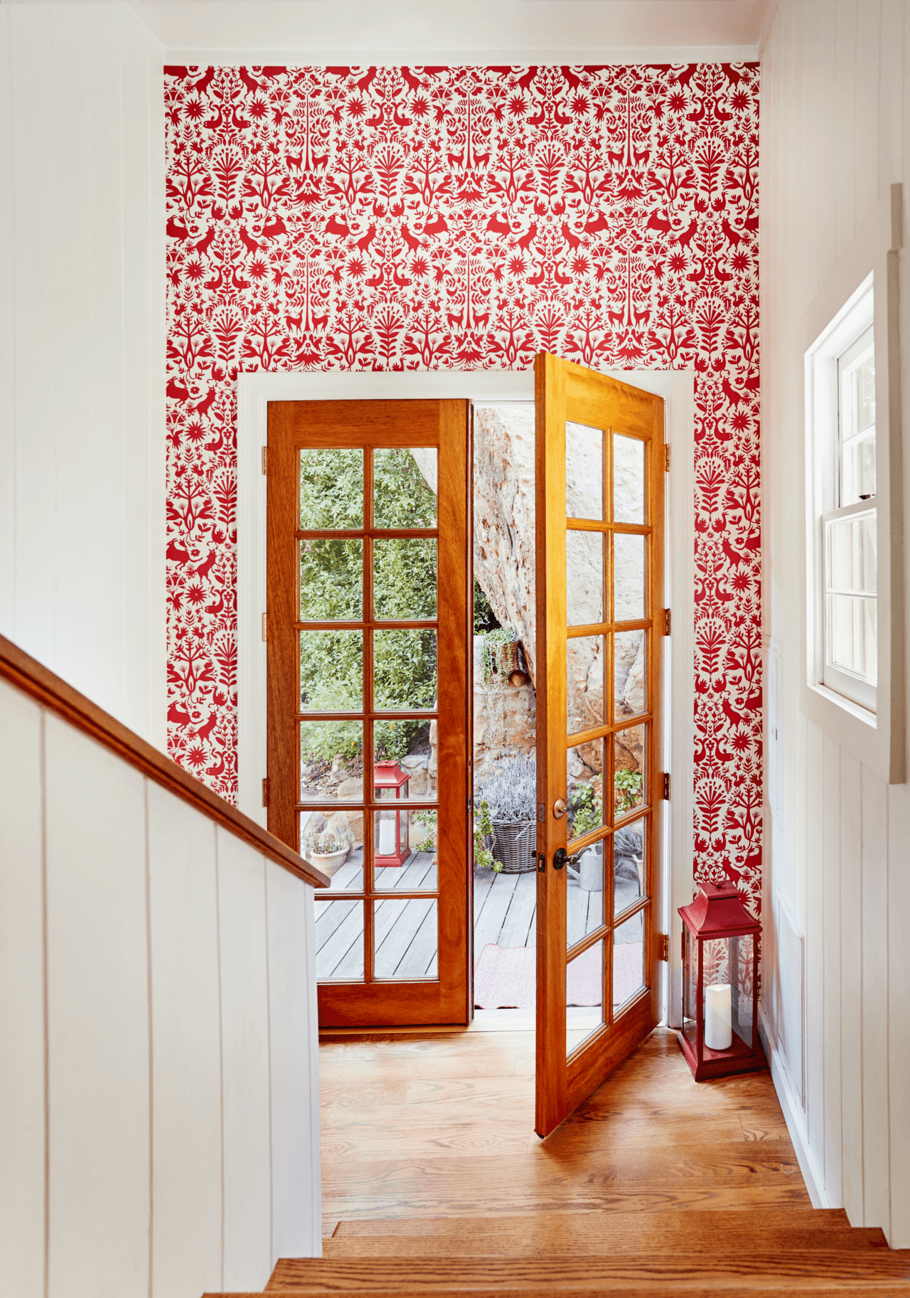 Bold Patterns | Otomi Red wallpaper | Emily Isabella | Hygge & West