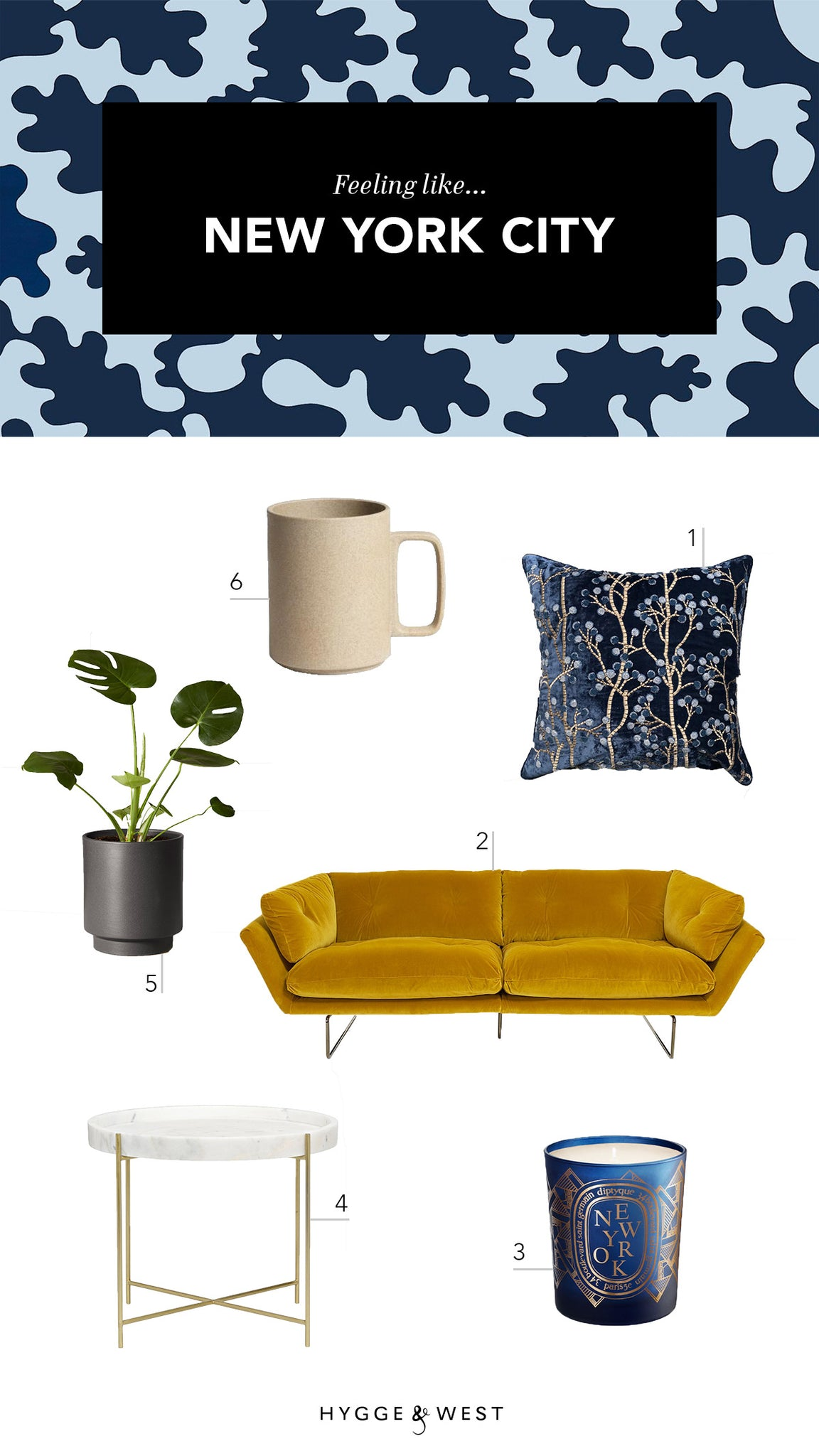 Feeling Like American Cities | Bruno Navy/Sky wallpaper | Tilton Fenwick | Hygge & West