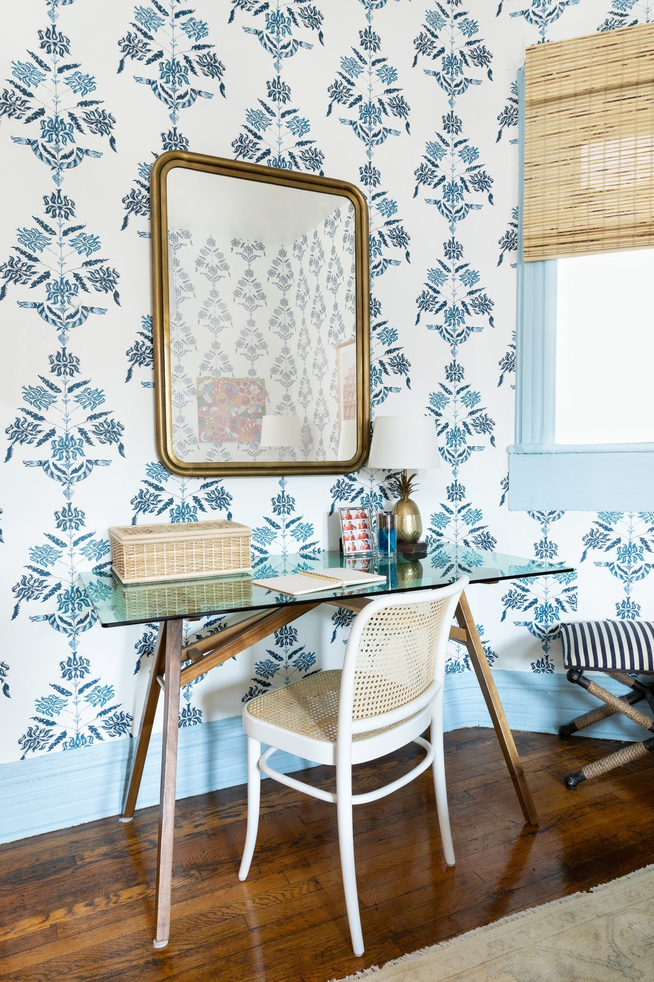 Soldo (Navy) Wallpaper | Hygge & West | Before & After
