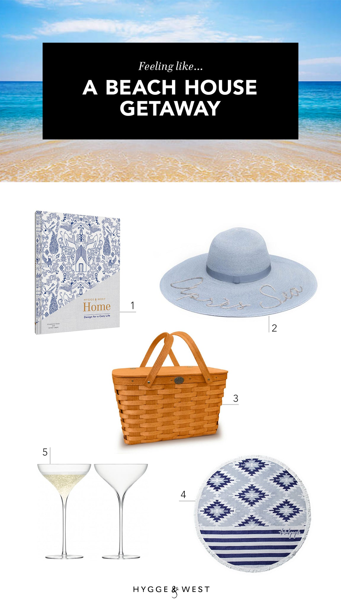 Hostess Beach Gifts | Hygge & West Book